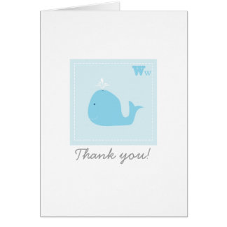 Baby Whale Thank You Card