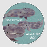 "Baby ""Whale To Go"" Personalized Stickers"