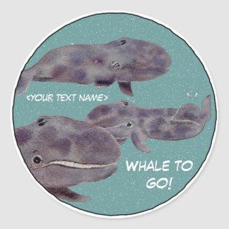 """Baby """"Whale To Go"""" Personalized Stickers"""