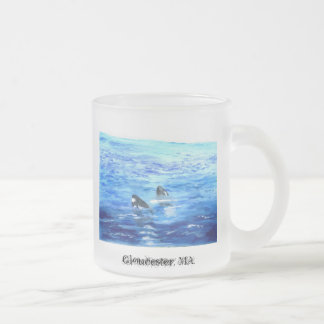Baby whales, Gloucester, MA. 10 Oz Frosted Glass Coffee Mug