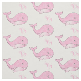 Baby Whales in Pink Polka Dots | DIY Background Fabric