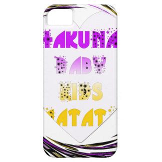 Baby White Hearts Hakuna Matata Baby Kids Design.p iPhone 5 Cover