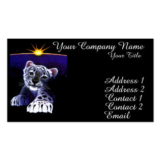 Baby White Tiger Business Card