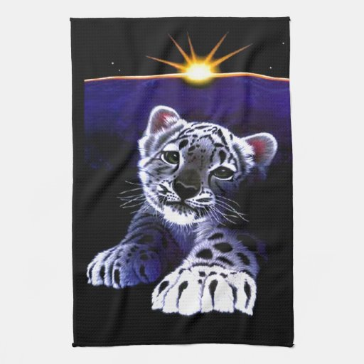 Baby White Tiger Hand Towels