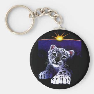 Baby White Tiger Keychain