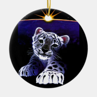 Baby White Tiger Christmas Tree Ornaments