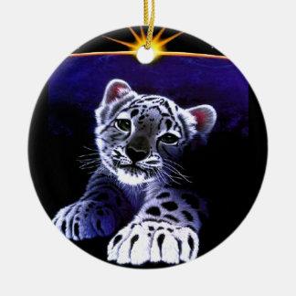 Baby White Tiger Ornament