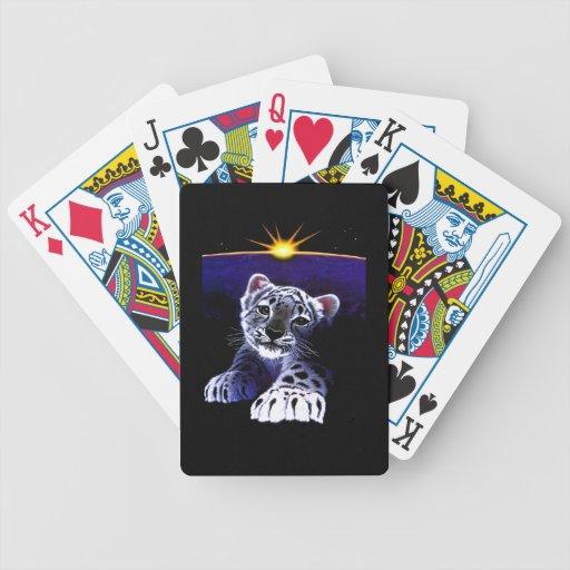 Baby White Tiger Poker Cards