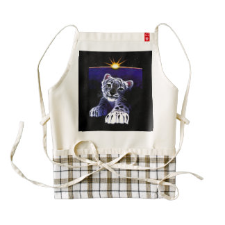 Baby White Tiger Zazzle HEART Apron
