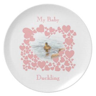 Baby wildlife plates