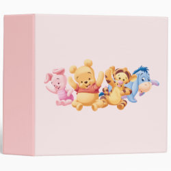 Avery Signature 1' Binder with Super Cute Baby Winnie the Pooh & Friends design