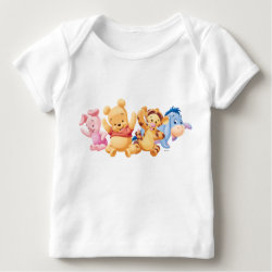 Baby Fine Jersey T-Shirt with Super Cute Baby Winnie the Pooh & Friends design