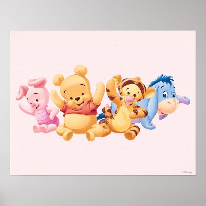baby winnie the pooh  friends poster  zazzle