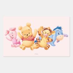 Baby Winnie the Pooh & Friends Rectangular Sticker at Zazzle