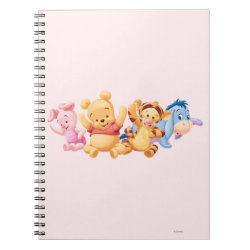 Photo Notebook (6.5' x 8.75', 80 Pages B&W) with Super Cute Baby Winnie the Pooh & Friends design