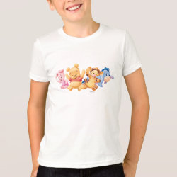 Kids' American Apparel Fine Jersey T-Shirt with Super Cute Baby Winnie the Pooh & Friends design