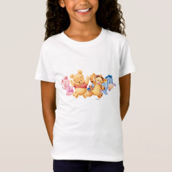 Girls' Fine Jersey T-Shirt with Super Cute Baby Winnie the Pooh & Friends design