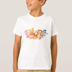 Kids' Hanes TAGLESS® T-Shirt with Super Cute Baby Winnie the Pooh & Friends design