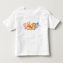 Toddler Fine Jersey T-Shirt with Super Cute Baby Winnie the Pooh & Friends design