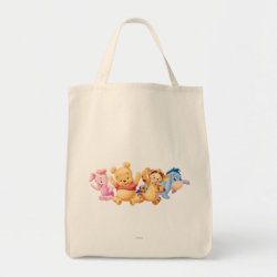 Grocery Tote with Super Cute Baby Winnie the Pooh & Friends design