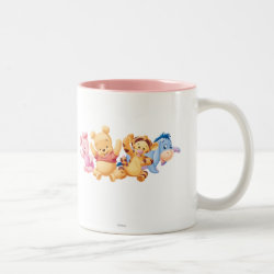 Two-Tone Mug with Super Cute Baby Winnie the Pooh & Friends design