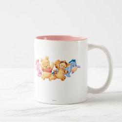 Two-Tone Mug with Super Cute Baby Winnie the Pooh & Friends design