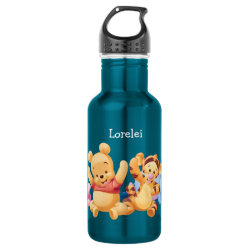 Water Bottle (24 oz) with Super Cute Baby Winnie the Pooh & Friends design