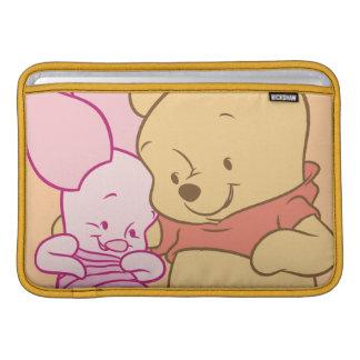 Baby Winnie the Pooh & Piglet Hugging MacBook Sleeves