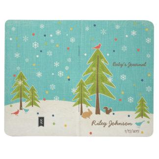 Baby Winter Wonderland Woodland Scene personalized Journal