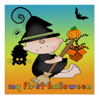 Baby Witch My 1st Halloween Poster/Print Poster