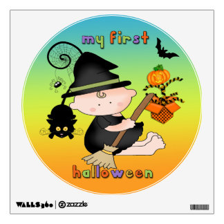 Baby Witch My 1st Halloween Round Wall Decal