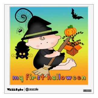Baby Witch My 1st Halloween Square Wall Decal