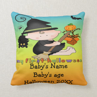 Baby Witch My 1st Halloween Throw Pillow