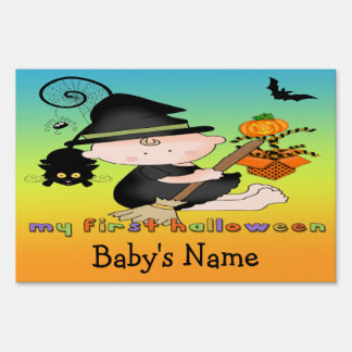 Baby Witch My 1st Halloween Yard Sign