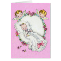 Baby with Angels ~ card for boy or girl