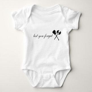Baby with Axe Logo Baby Bodysuit