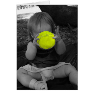 Baby with ball card