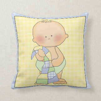 Baby with Blanket Decorative Pillow