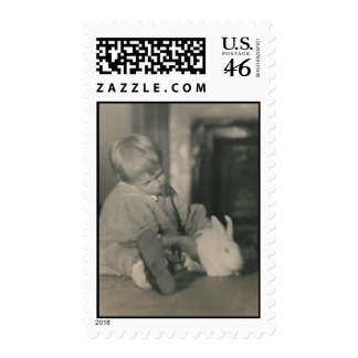 baby with bunny postage