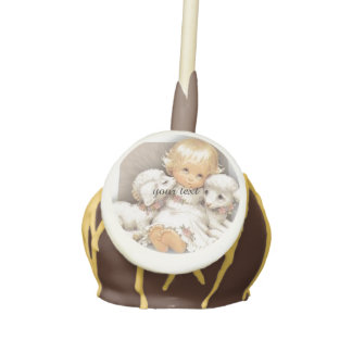 Baby with lamb cake pops