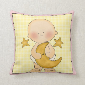 Baby with Moon Decorative Pillow