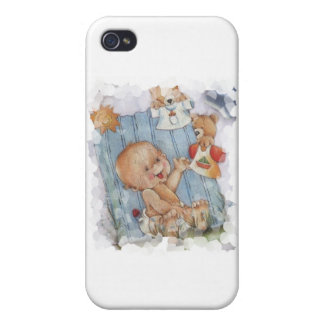 Baby with toys cases for iPhone 4