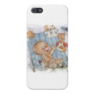 Baby with toys iPhone 5 cases