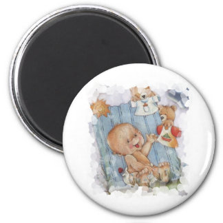 Baby with toys magnet