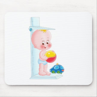 baby with toys mouse pad