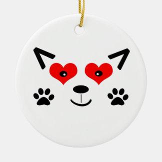 Baby Wolf Ceramic Ornament