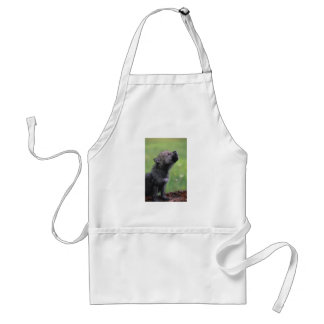 Baby Wolf Howls Adult Apron
