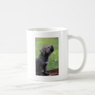 Baby Wolf Howls Coffee Mug