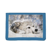 Baby Wolf Trifold Wallet