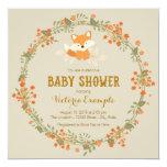 Baby Woodland Fox Baby Shower Invitation